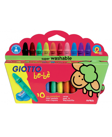 Giotto Be-Well Pastelloni Wax Pack 10 Pcs