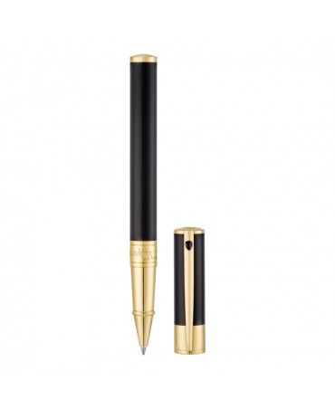 S.t. Dupont Roller Dupont D-Initial Nero E Oro