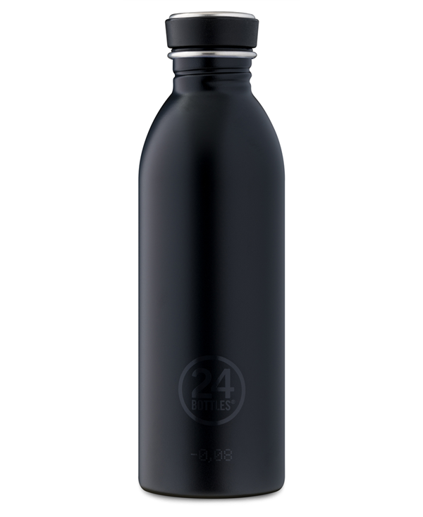 24bottles Borraccia Urban 500ml Acciaio Inox H21cm Black
