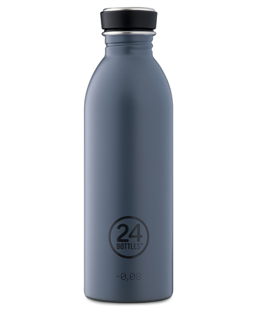 24bottles Borraccia Urban 500ml Acciaio Inox H21cm Grey