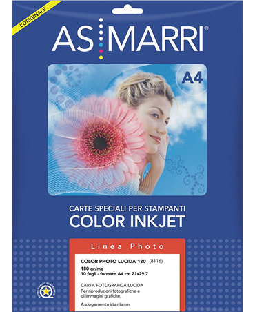 As/marri Color Photo Glossy A4 180 10fg. 8116