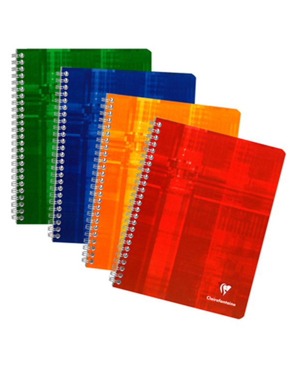 Clairefontaine Quaderno Spirale 17x22 100 Pagine Seyes