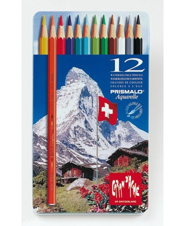 Caran D'Ache - Prismalo Pencils In Metal Box 12 Pieces