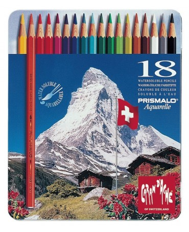 Caran D'Ache - Prismalo Pencils In Metal Box 18 Pieces