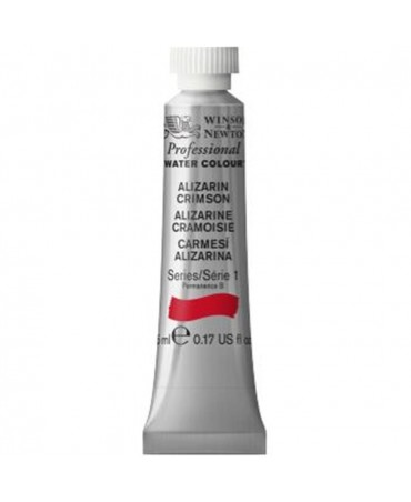 Winsor & Newton - Acquarello Extra-Fine Artists Awc Tubo 5ml Serie 1 - Colore 004 Alizarin Crimson
