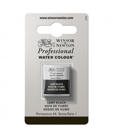 Winsor & Newton - Acquarello Extra-Fine Artists Awc 1-2 Godet Serie 1 - Colore 337 Lamp Black