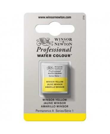 Winsor & Newton - Acquarello Extra-Fine Artists Awc 1-2 Godet Serie 1 - Colore 730 Winsor Yellow