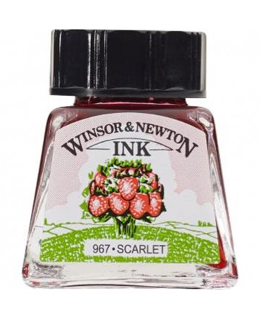 Winsor & Newton - Inchiostro Di China 14 Ml. - 601 Scarlatto