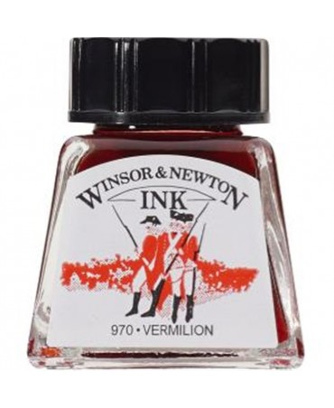 Winsor & Newton - Inchiostro Di China 14 Ml. - 680 Vermiglio