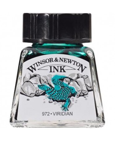Winsor & Newton - Inchiostro Di China 14 Ml. - 692 Verde Veronese