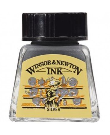 Winsor & Newton - Inchiostro Di China 14 Ml. - 617 Argento