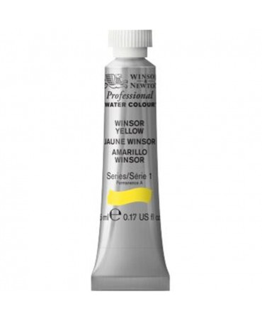 Winsor & Newton - Acquarello Extra-Fine Artists Awc Tubo 5ml Serie 1 - Colore 730 Winsor Yellow