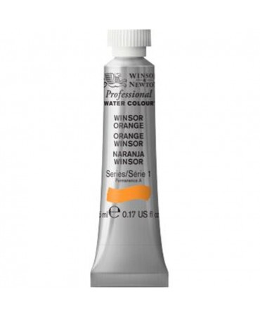 Winsor & Newton - Acquarello Extra-Fine Artists Awc Tubo 5ml Serie 1 - Colore 724 Winsor Orange