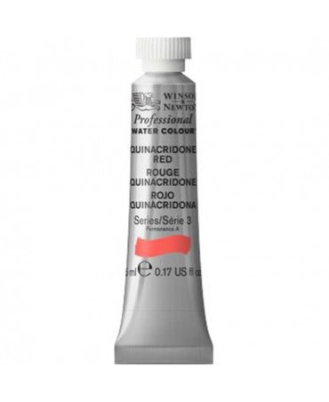 Winsor & Newton - Acquarello Extra-Fine Artists Awc Tubo 5ml Serie 3 - Colore 548 Quinacridone Red