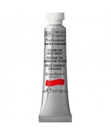 Winsor & Newton - Acquarello Extra-Fine Artists Awc Tubo 5ml Serie 4 - Colore 097 Cadmium Red Deep