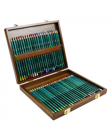 Derwent - Artists Wooden Box 2 Drawers 48 Pencils