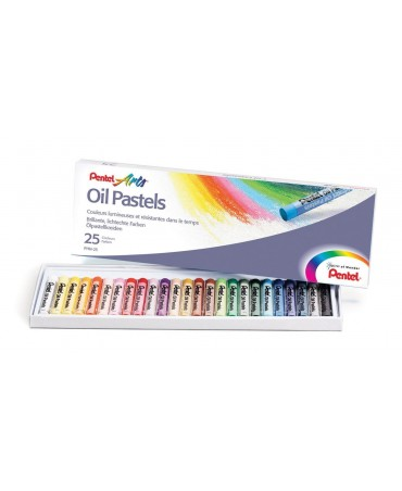 Pentel - Oil Pastels Box Arts 25pcs