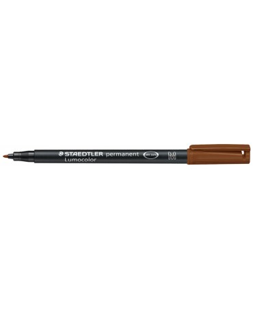 Staedtler - Pennarello Permanente Lumocolor Medio 7-Marrone