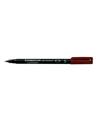 Staedtler - Pennarello Permanente Lumocolor Superfino 7-Marrone