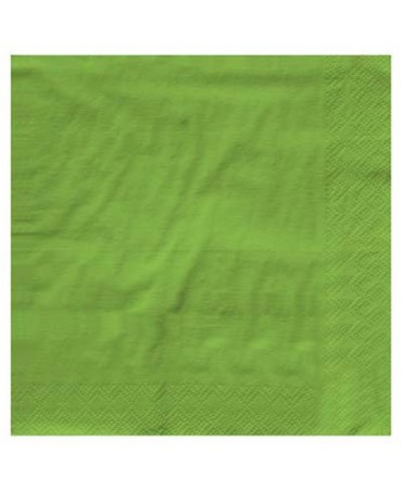 Touch Of Color - Tovagliolo 25x25cm 3veli Premium T.u. 50pz Verde Fresh Lime