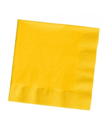 Touch Of Color - Tovagliolo 33x33cm 3veli Premium T.u. 50pz Giallo Bus