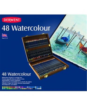 Derwent Pack 48 Wooden Watercolour Pencils