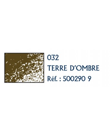 Contè À Paris 12 Pcs Pack Carre Colorato  Sezione 6x6 Mm 290-Terra D'Ombra