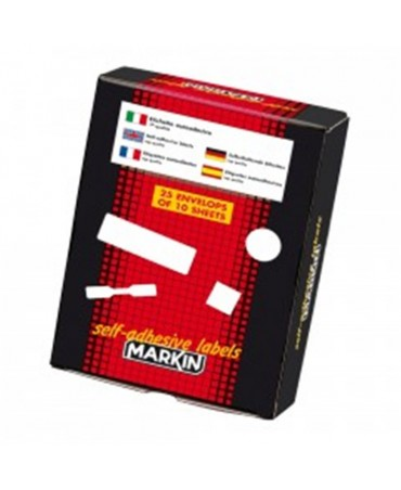Markin Adhesive Labels On Envelope, Special Pieces 60 70x37 Mm.