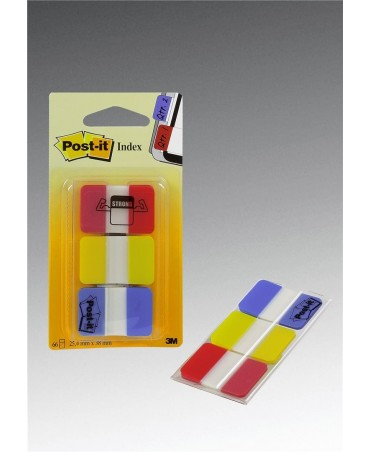 Post-It Blister 66 Index Strong 686-Ryb 25x38mm Colori Classici